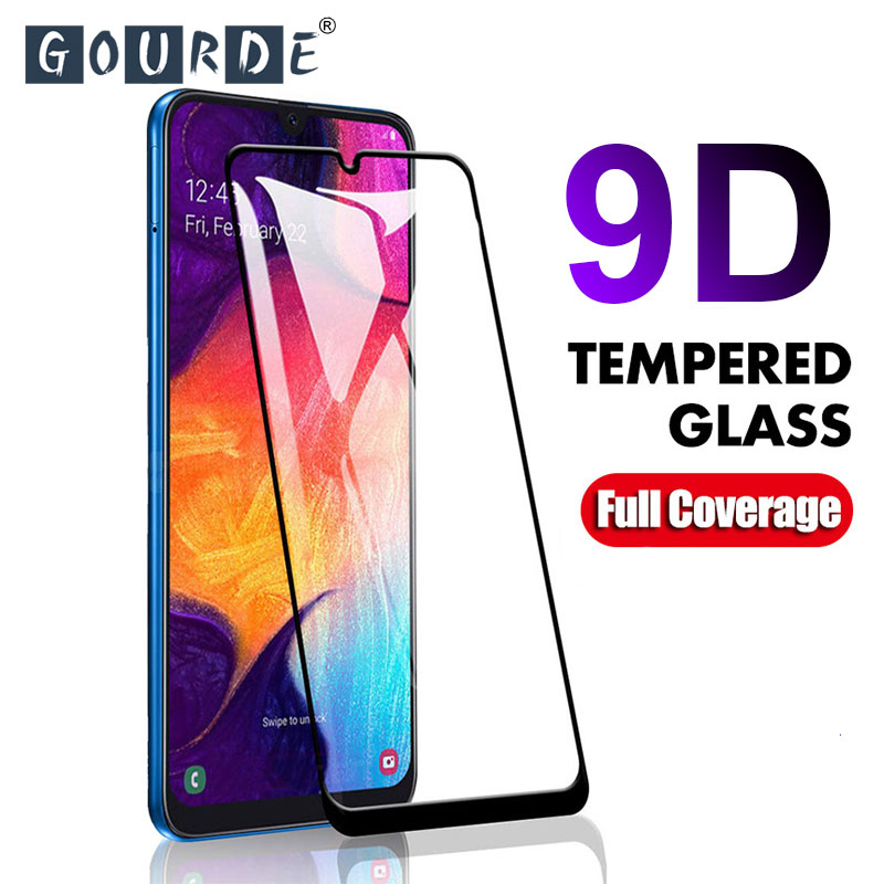 9D Curved Screen Protector For Samsung Galaxy A50 A70 A5 A7 2017 Tempered Glass A40 A30 A5 A7 A8 2018 A6 A8 Plus 2018 Glass Film