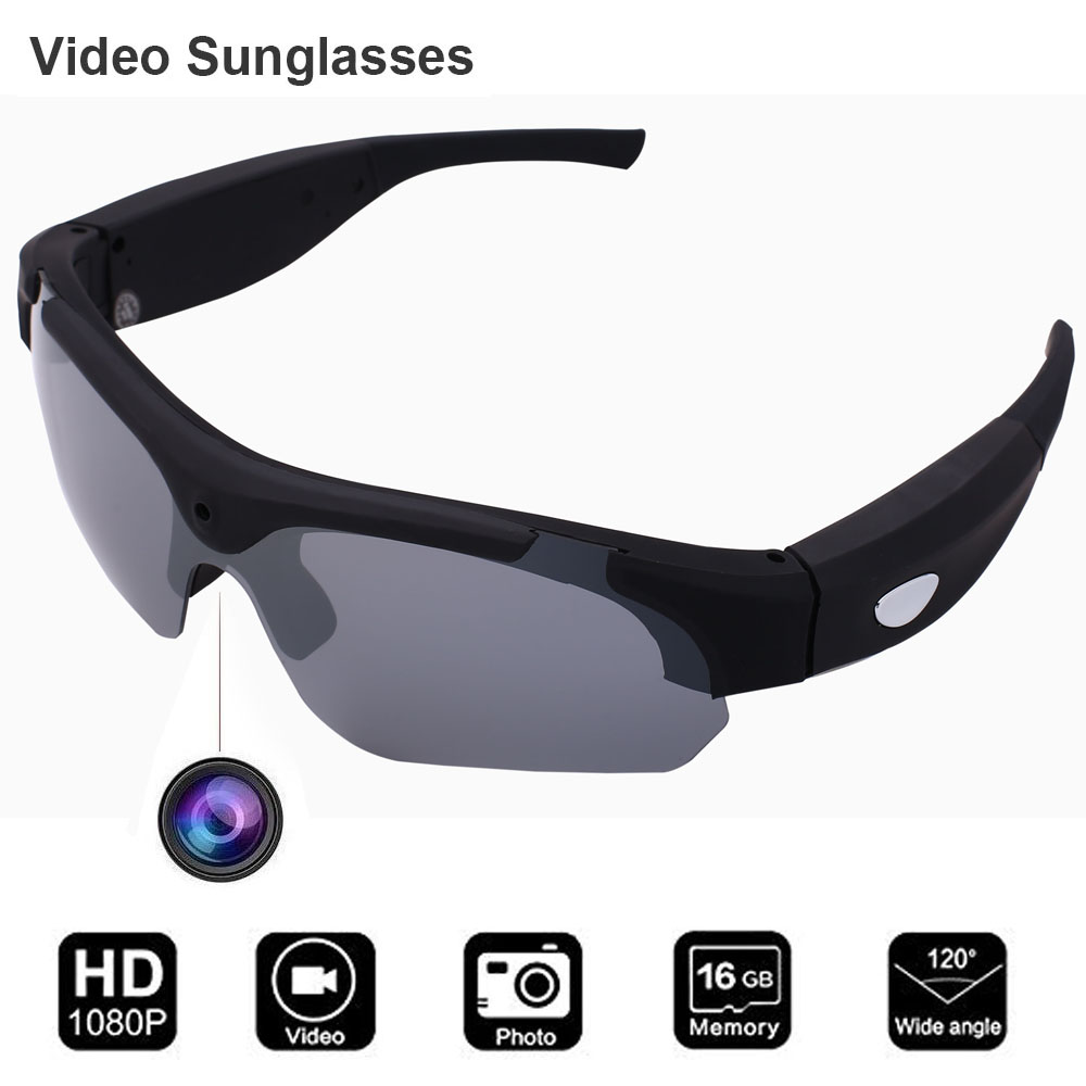 CONWAY Mini Camera Sunglasses Upgrade Video Recording Glasses 1080p DVR Eyewear Polarized for Cycling Fishing Hunting Driving in Men 39 s Sunglasses from Apparel Accessories