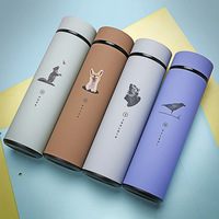 Tea Vacuum 480ml Coffee Tumbler Insulated Travel Mug Stainless Steel Water Bottle with Tea Filter Thermocup Hot Water Thermos|Sports Bottles| |  -