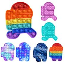 Fidget-Toys Relief-Toy Bubble Gift Stress It-Hot-Push Soft Squishy Poppit Adult Box