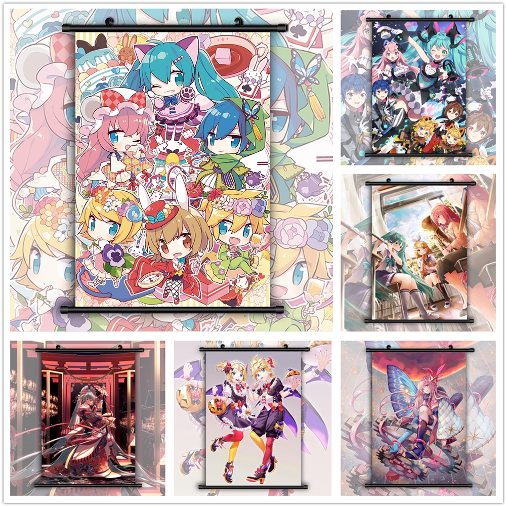 VOCALOID Kagamine Len HD Canvas Print Wall Poster Scroll Room Decor