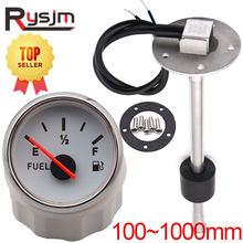 Sensor de nivel de combustible marino, medidor de nivel de agua combustible para barco y coche, tamaño personalizado de 100-1000mm, luz trasera roja de 0-190ohm, 9-32V