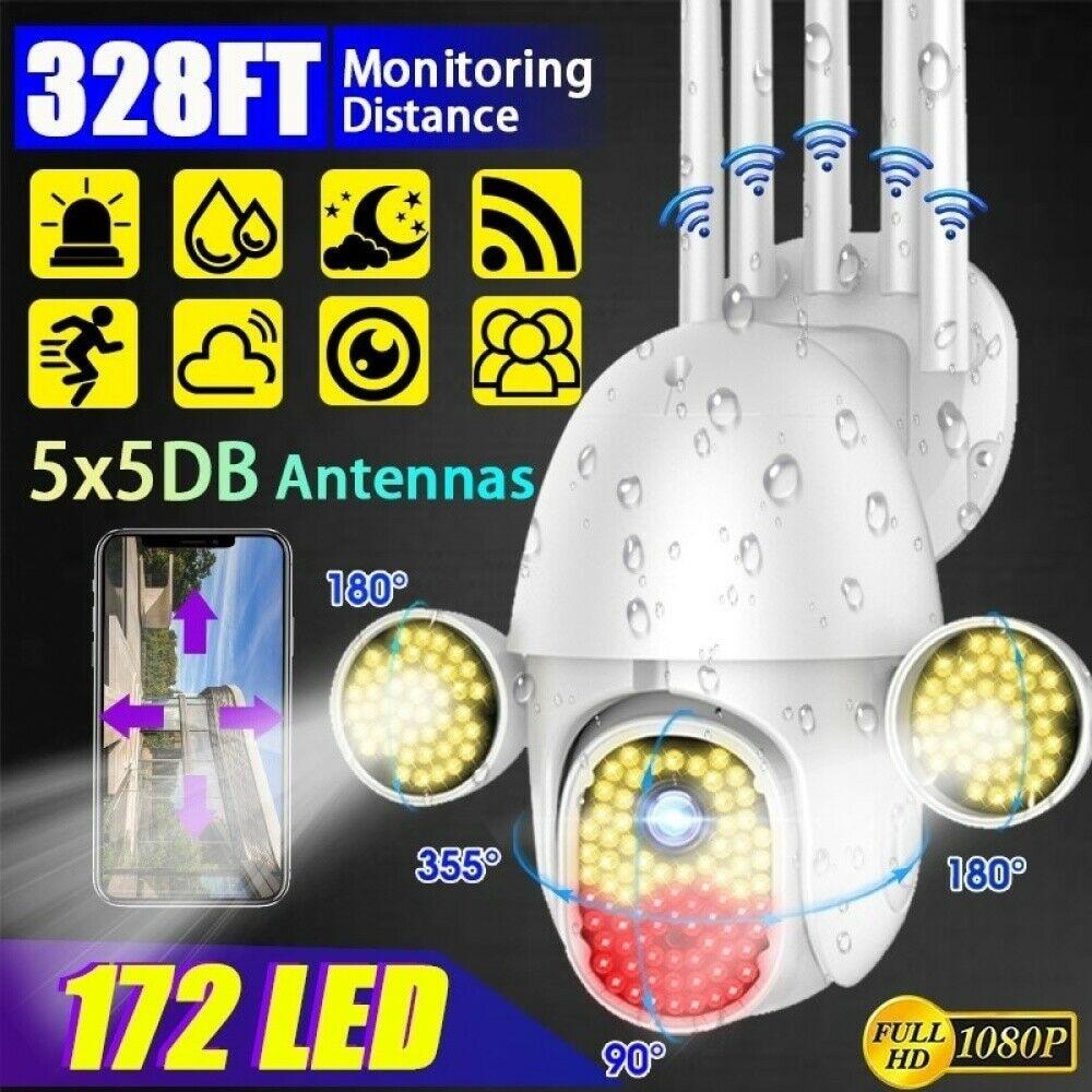 172LED 1080P 2MP wifi IP Camera Outdoor Speed Dome Wireless Wifi Camera 172 LED 360° Pan Tilt Zoom IR Network CCTV Surveillance