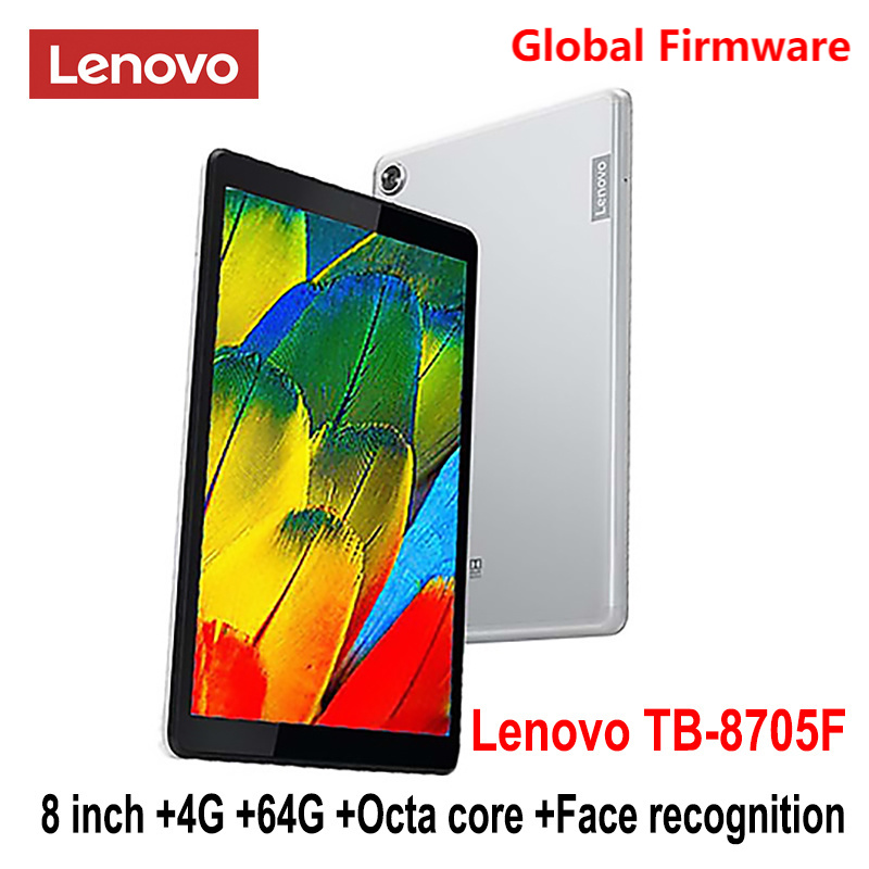 Lenovo Tablet M8 SmartTablet TB 8705F/N 8 inch 3G/ 4G RAM 32G/ 64G ROM Octa Core WiFi /LTE 5100mAh Face Recognition FHD Dolby 1