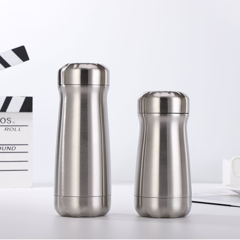 New Style Europe And America Gulp Sports Bottle Creative Insulated Stainless Steel Bottle Glass Pitcher Gift|Sports Bottles| |  - title=
