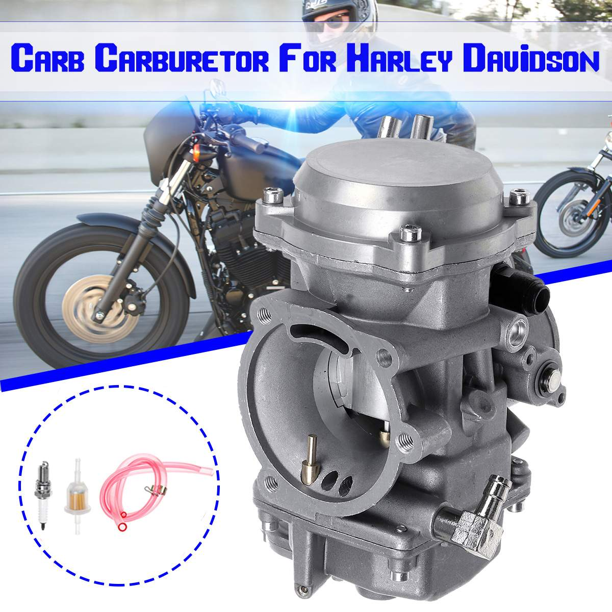 40mm Motorcycle Carb Carburetor 27421-99C 27490-04 27465-04 27031-95 For Harley Davidson/Softail/Dyna FXR Touring/Sportster