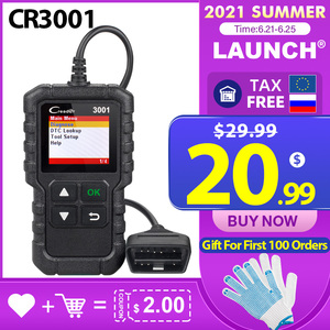 Image 1 - LAUNCH X431 Creader 3001 Full OBDII/EOBD code reader scanner Multilingual CR3001 Car diagnostic tool PK ELM 327