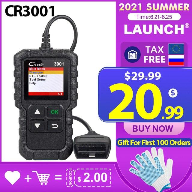 LAUNCH X431 Creader 3001 Full OBDII/EOBD code reader scanner Multilingual CR3001 Car diagnostic tool PK ELM 327