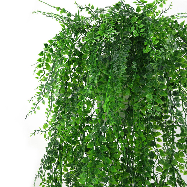 Artificial Plant Vines Wall Hanging Simulation Rattan Leaves Branches Green Plant Ivy Leaf Home Wedding Decoration Plant-Fall 2