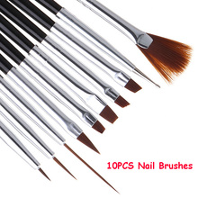 Nail-Brushes-Set Manicure-Tools Painting Nail-Art-Liner Crystal Acrylic Professional