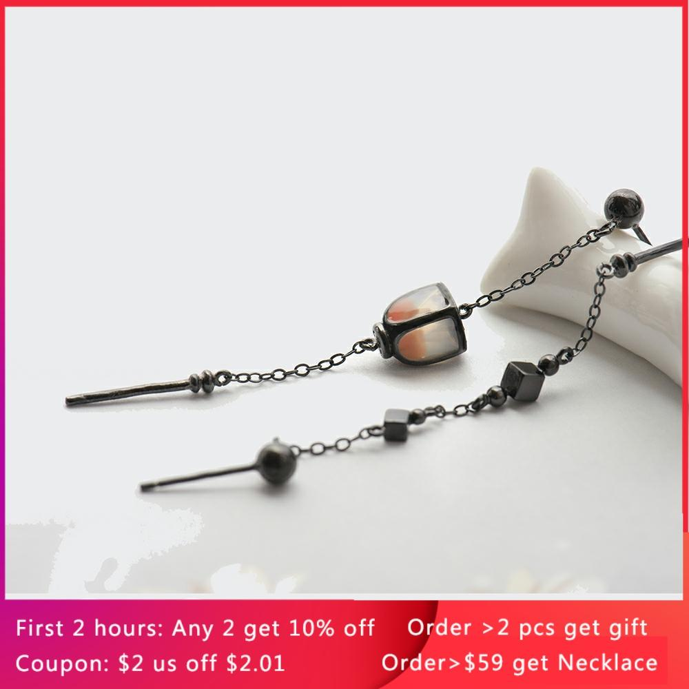 Thaya Vintage Long Pendant Earrings Dropping Sky Lantern Handmade s925 sterling Silver Studs For Women Female Elegant Jewelry