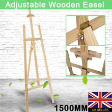 150cm Wooden Oil Painting Easel Adjustable Wood Artist Art Display Easels FOR Artist Painter Art Craft Painting Tool