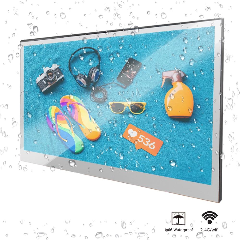 "H09c67710b4154bb2b027f6eb95c3674cn Souria 22"" inch Magic Android 7.1 Mirror LED TV IP66 Waterproof Rated Bathroom Salon In Wall Mounted Flat Screen (ATSC or DVB)"