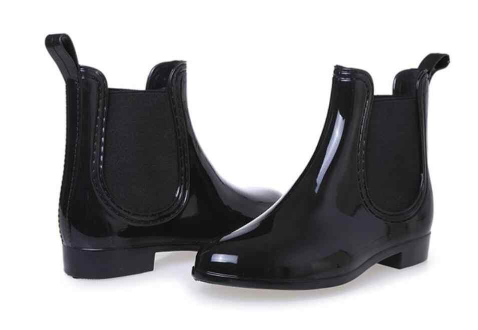 New Rubber Shoes Women Rain Boots For Girls Ladies Walking Waterproof PVC Women Boots Winter Woman Ankle Rainboots Size 36-41