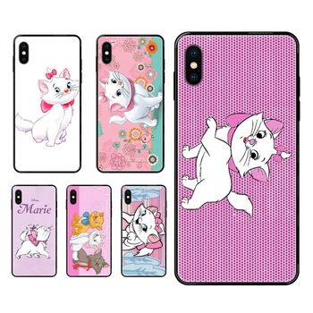 Discount For Apple iPhone 11 12 Pro 5 5S SE 5C 6 6S 7 8 X 10 XR XS Plus Max The Aristocats Black Soft TPU Protective Cover Case image