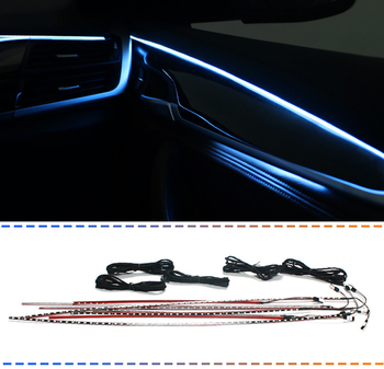 Car ambient Light for BMW F10 auto Interior door Glow Strip lamp Inner tuning atmosphere  Lighting illumination armrest Lights