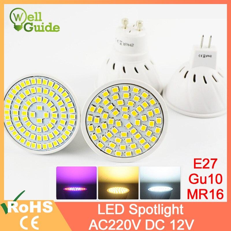 Светодиодный прожектор лампы светодиодный лампа 3W 4W 5W AC/DC 12V AC 220V 240V E27 MR16 GU10 растут светильник Bombillas lampada Lampara Точечный светильник Инж