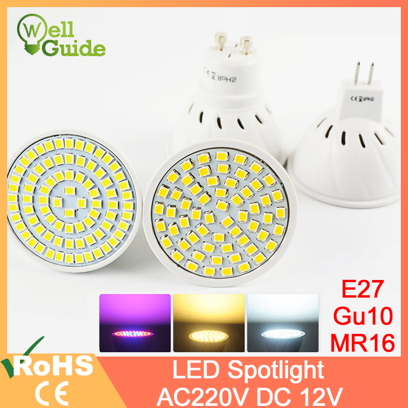 LED Spot Bulb LED Lamp 3W 4W 5W DC 12V AC 220V 240V E27 MR16 GU10 Grow Light Bombillas Lampada Lampara Spotlight Lighting