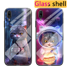 Cartoon Glass fighting Cat Case For Vivo X23 X27 Pro X21i X21 UD Space Cat Luxury TPU Back Case For Vivo NEX S / 3 5G