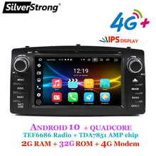 4G Android 10,COROLLA E120, автомобильный DVD GPS, для TOYOTA corolla ex, универсальное радио, SilverStrong 2din, навигация, android DVD