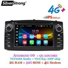 4g android 10, corolla e120, carro dvd gps, para toyota corolla ex, rádio universal, silverstrong 2din, navegação, android dvd