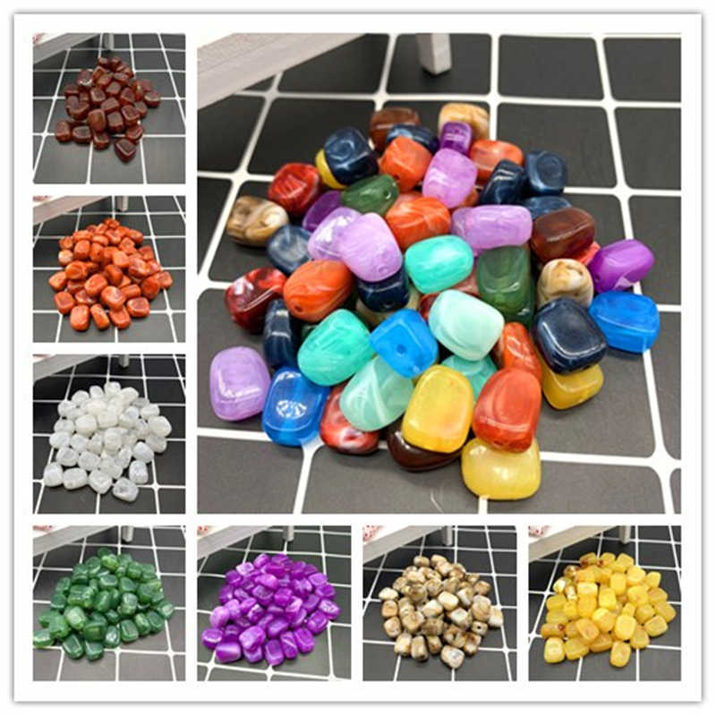 Wholesale 20pcs 14x10x6mm Cube Shape Beads Imitation Stone Beads for Jewelry Making Bracelet Pendant DIY