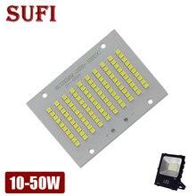 Reflector LED de potencia completa PCB, 10W, 20W, 30W, 50W, SMD2835, placa de aluminio para reflector LED 10, 20, 30, 50W, 100%