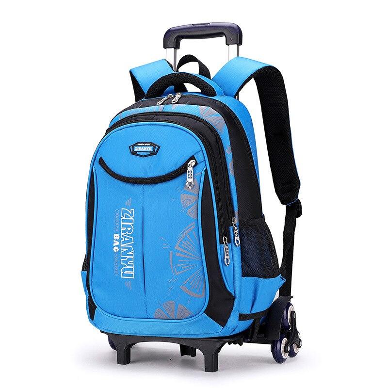 Детская сумка на колесиках для мальчиков и девочек, сумка для багажа и книг, съемный рюкзак, детские школьные сумки на 2/6 колесах, сумка на колесиках|Школьные ранцы|   | АлиЭкспресс