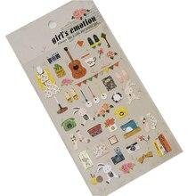 Sticker Decoration Diy Notebook Memo-Pad Scrapbook Kawaii Girl Envelope Photo-Album Pvc