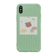 New cartoon matcha green phone case for iPhone11 X XS XR XSMax 8 7 6 6S PluS silicone drop protection cover