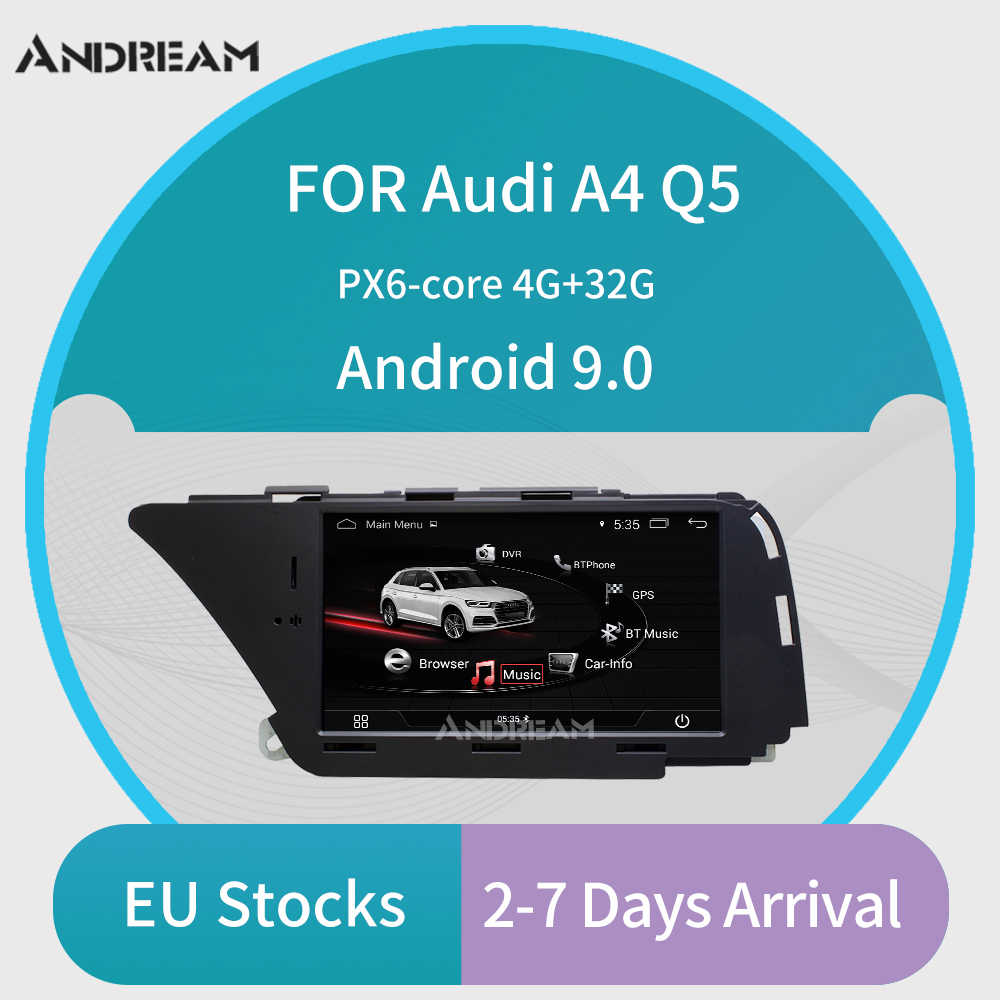 Andreamアンドロイド車のマルチメディアプレーヤーアウディA4 (2008-2016 B8) Q5(2010-2016) bluetooth gpsナビゲーションwifi euの配送