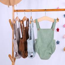 Ropa de verano para bebé recién nacido, mono de pana, trajes con Espalda descubierta, 2020