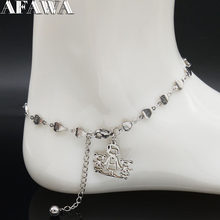 2019 Fashion Family MUM and Two Girl Stainless Steel Bracelet Foot for Women Silver Color Heart Ankle Leg Jewelry joyas A612359B(China)