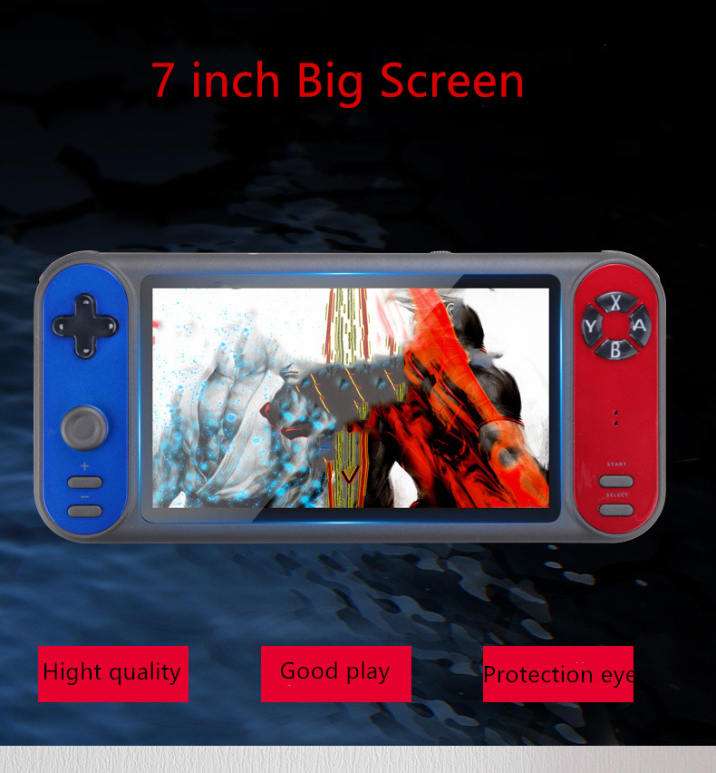 Coolbaby  7 inch big Screen Retro Game Console Built in 3000 Game  Joystick Handheld Game Console For PSP  GBA SEGA  SFC  Game