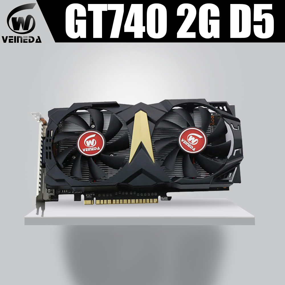 VEINEDA Video Card New Graphic Card GT740 2GB GDDR5 128BIT Gaming Desktop Computer PC Video