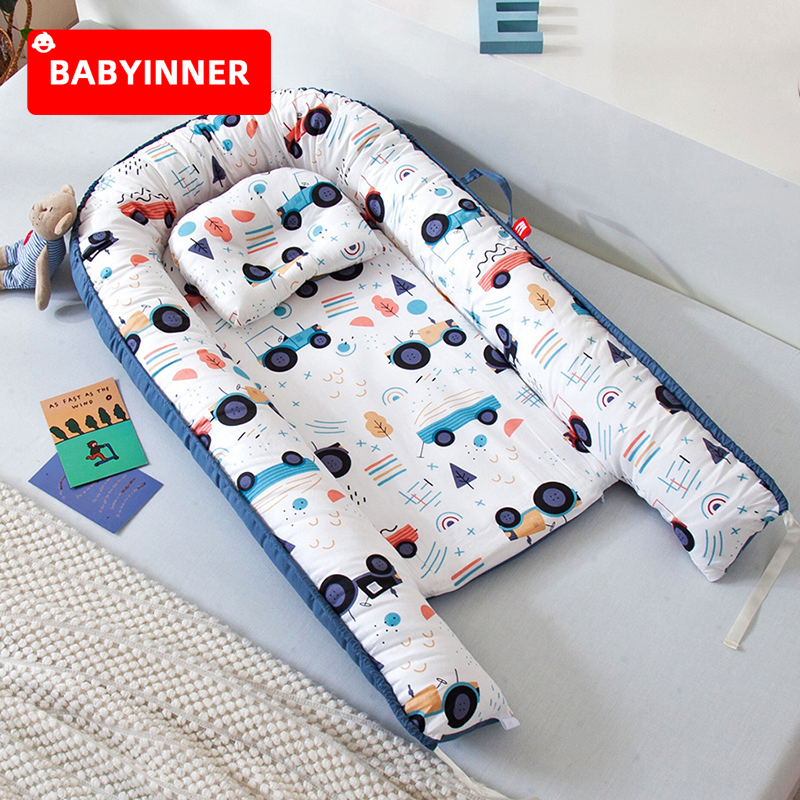 Babyinner Tragbare Baby Krippe Cartoon Infant Nest Baumwolle Wiege Klapp Neugeborenen Reise Bett Im Bett Bett Stubenwagen Room Decor