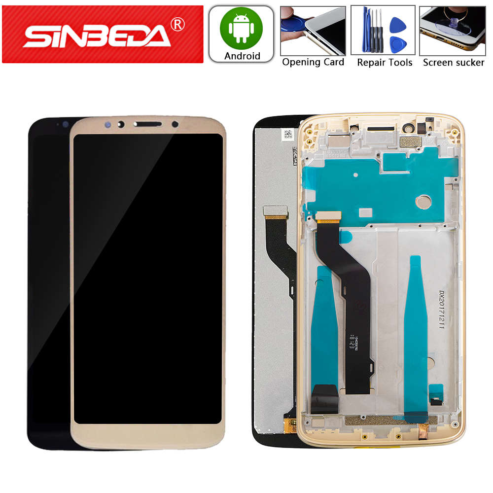Original For Motorola Moto E5 Plus XT1924 LCD Display Touch Screen Digitizer With Frame For Moto E5 XT1944-2 XT1944-4 LCD Screen