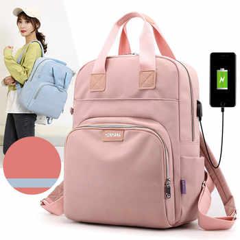 New Waterproof Nylon Backpack for Women School Shoulder Bag Bagpack for Teenage Girls Female Travel Backpacks mochila