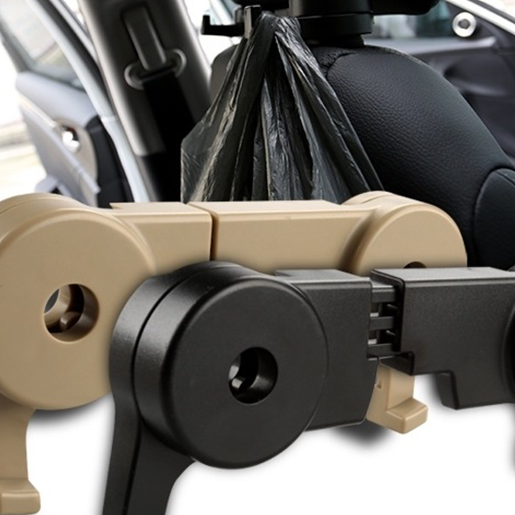 1pc Car Seat Back Hidden Hook Universal Vehicle Interior Hanging Hook Organizer title=