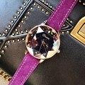 Dimini Neue Stil Trend der Mode frauen Kühlen Glorious FRAUEN Uhr Spezielle Stern Rose Gold Leder Gürtel Damen Uhr auf
