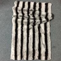 MS.Softex Natural Rex Rabbit Fur Plate Chinchilla Rex Rabbit fur Blanket Raw Material DIY Natura Fur Skins Hand Made Factory OEM