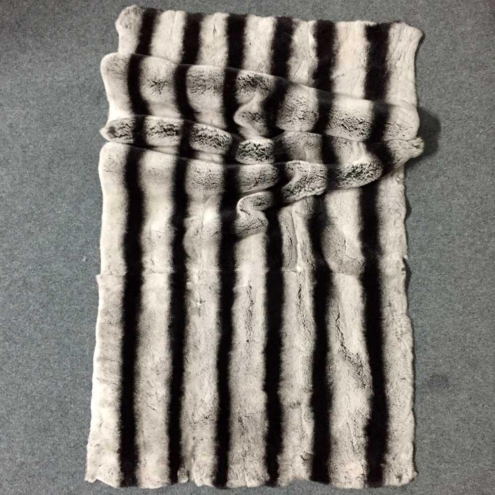 MS. Softex plaque de fourrure de lapin Rex naturel Chinchilla Rex couverture de fourrure de lapin matière première bricolage Natura peaux de fourrure fabriqué à la main usine OEM