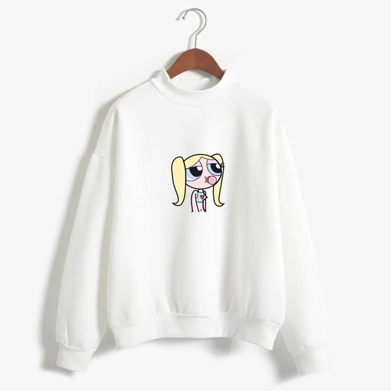 Kawaii Superpower Girl Buttercup Blossom And Bubbles Sweatshirt Harajuku Hip-hop Ulzzang Korean Style Autumn Fashion Sweatshirt