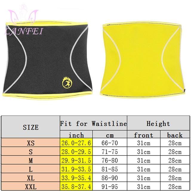 LANFEI Men Waist Trainer Belts Sauna Slimming Body Shapers Girdle Neoprene Workout Sweat Waist Trimmer Corset for Weight Loss 5