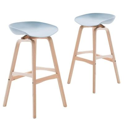European Creative Bar Chair Modern Minimalist Lift Bar Solid Wood Front Desk Chair Home Bar Stool Fashion High Stool
