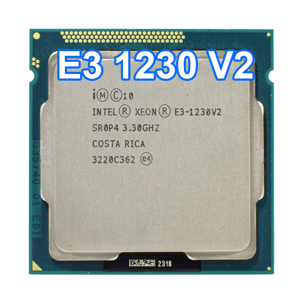 Intel Xeon <font><b>E3</b></font>-<font><b>1230</b></font> <font><b>V2</b></font> 3.3GHz Quad-Core 5.0GT/s 8MB <font><b>E3</b></font> 1230V2 LGA1155 CPU Processor SR0P4 image