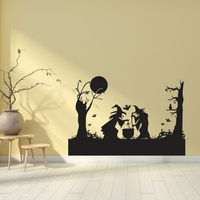 Black Wall Stickers Self Adhesive PVC Decals For Halloween Decorations For Kids Rooms Nursery Halloween Party vc