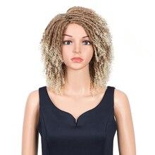 Pelucas sintéticas rizadas mágicas para mujer, pelo corto rizado de 14 pulgadas, pelo sintético de colores mezclados, Cosplay, envío gratis