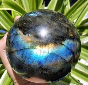 Натуральный Лабрадорит хрустальный шар голубой шар драгоценный камень