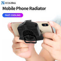 Coolreall Phone Cooler Adjustable Portable Fan Holder Heat Sink For iPhone Xs Max Xs XR Mobile Phone Radiator For Samsung Huawei